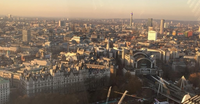 Londres : Vue depuis le London Eye